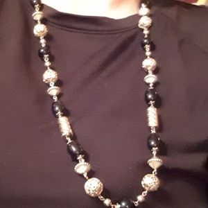Black & Gold-Hand-made Korean Necklace